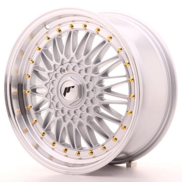 JR Wheels JR9 18x8 ET35-40 BLANK Silver w/Machined Lip